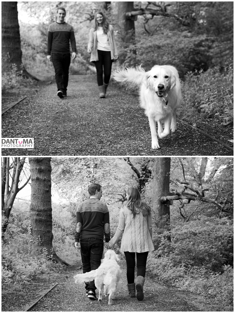 Engagement Photography in Cheshire which is dog friendly. Captured by Dantuma Photography