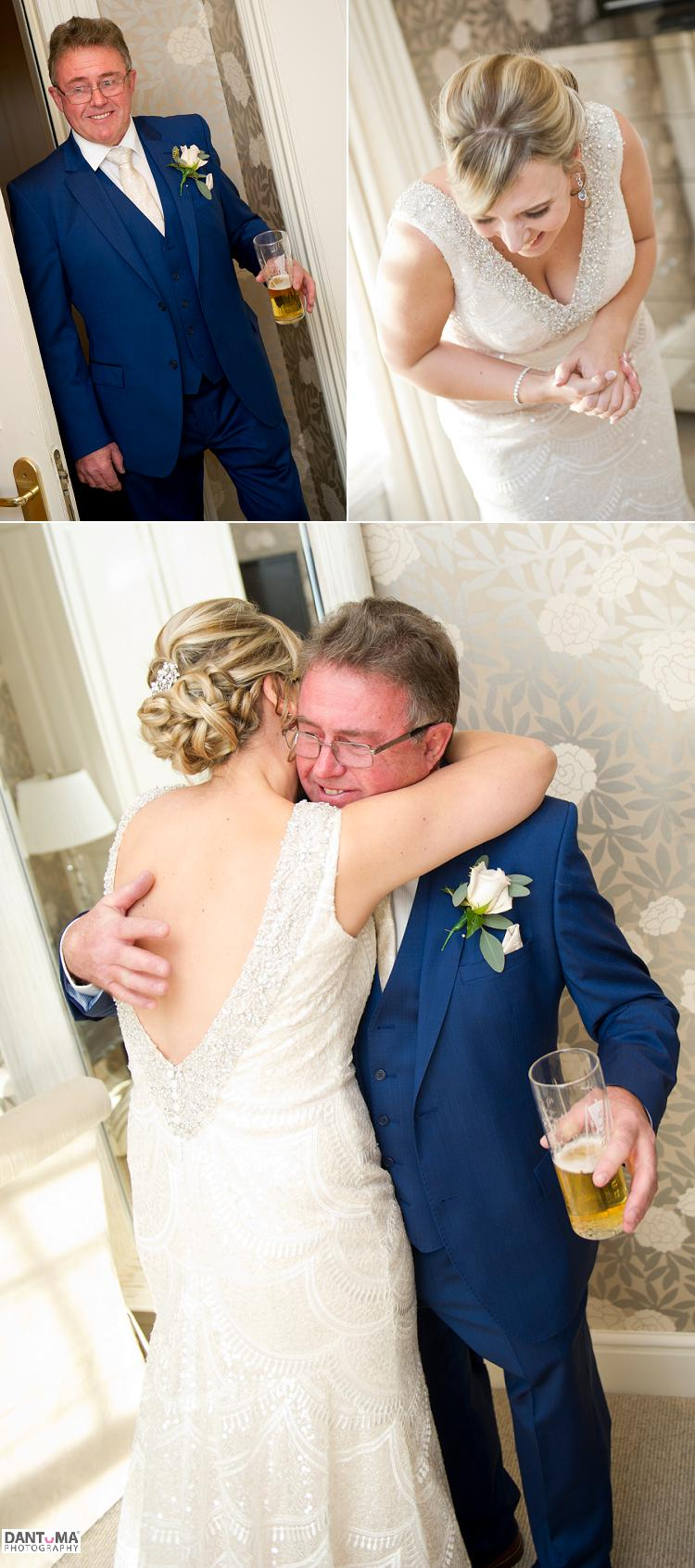 first look with dad captured at rowton hall chester